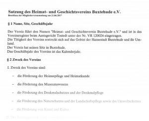 Heimatvein, Geschichtsverein, Buxtehude / Satzung ► Hier können Sie die Satzung im PDF-Format herunter laden.